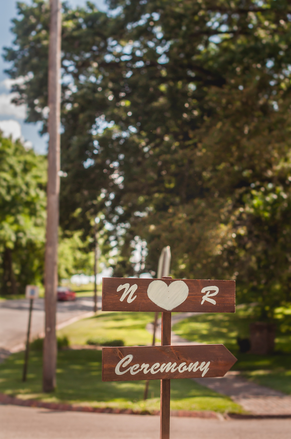 Wooden Wedding Directional Sign - A Forest Wedding Ceremony - Melissa Cervantes Photography
