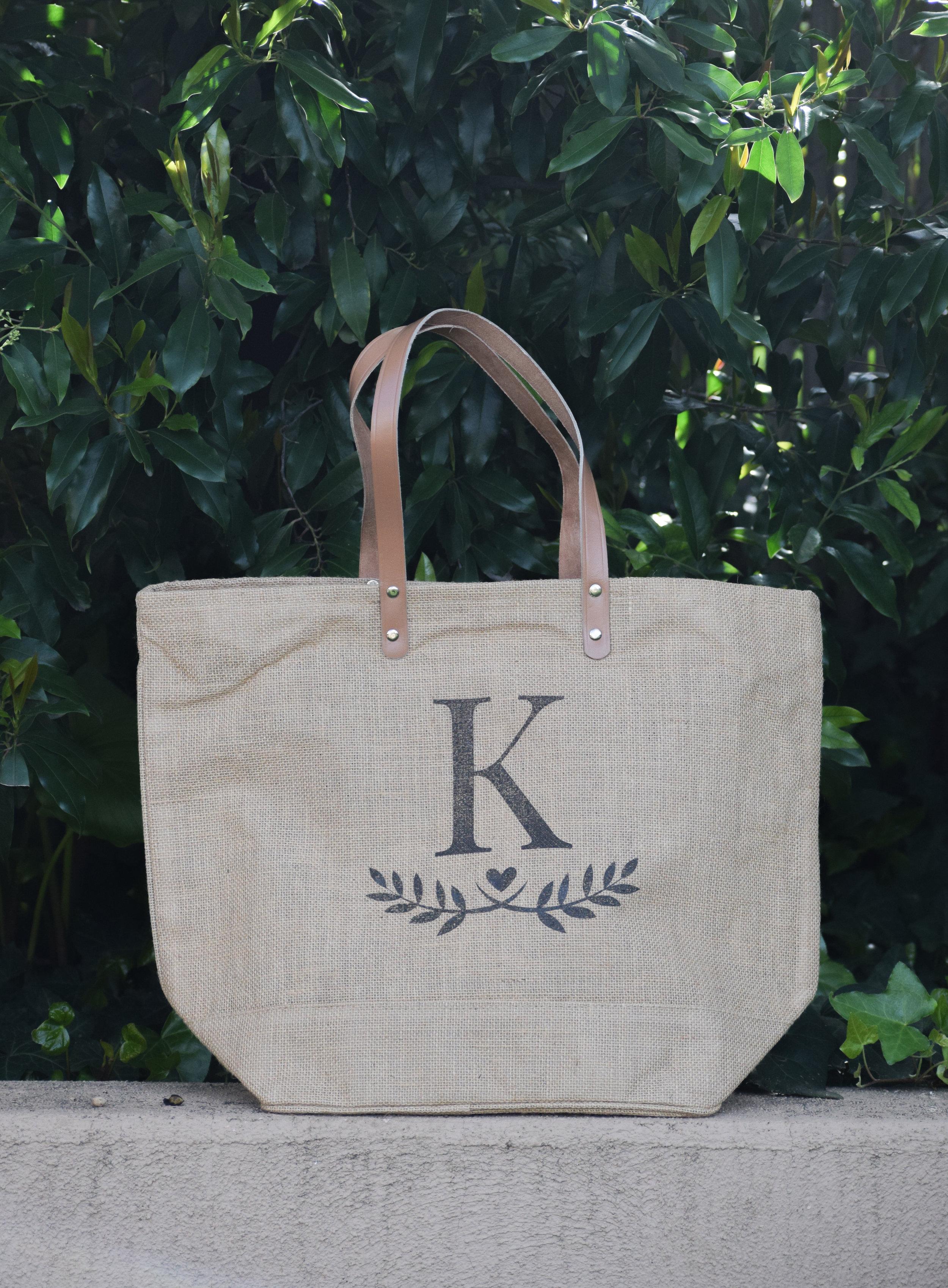 The Bridal Boutique - Burlap Bridesmaid Tote - Bridesmaid Gift Bags - Emma and the Bean