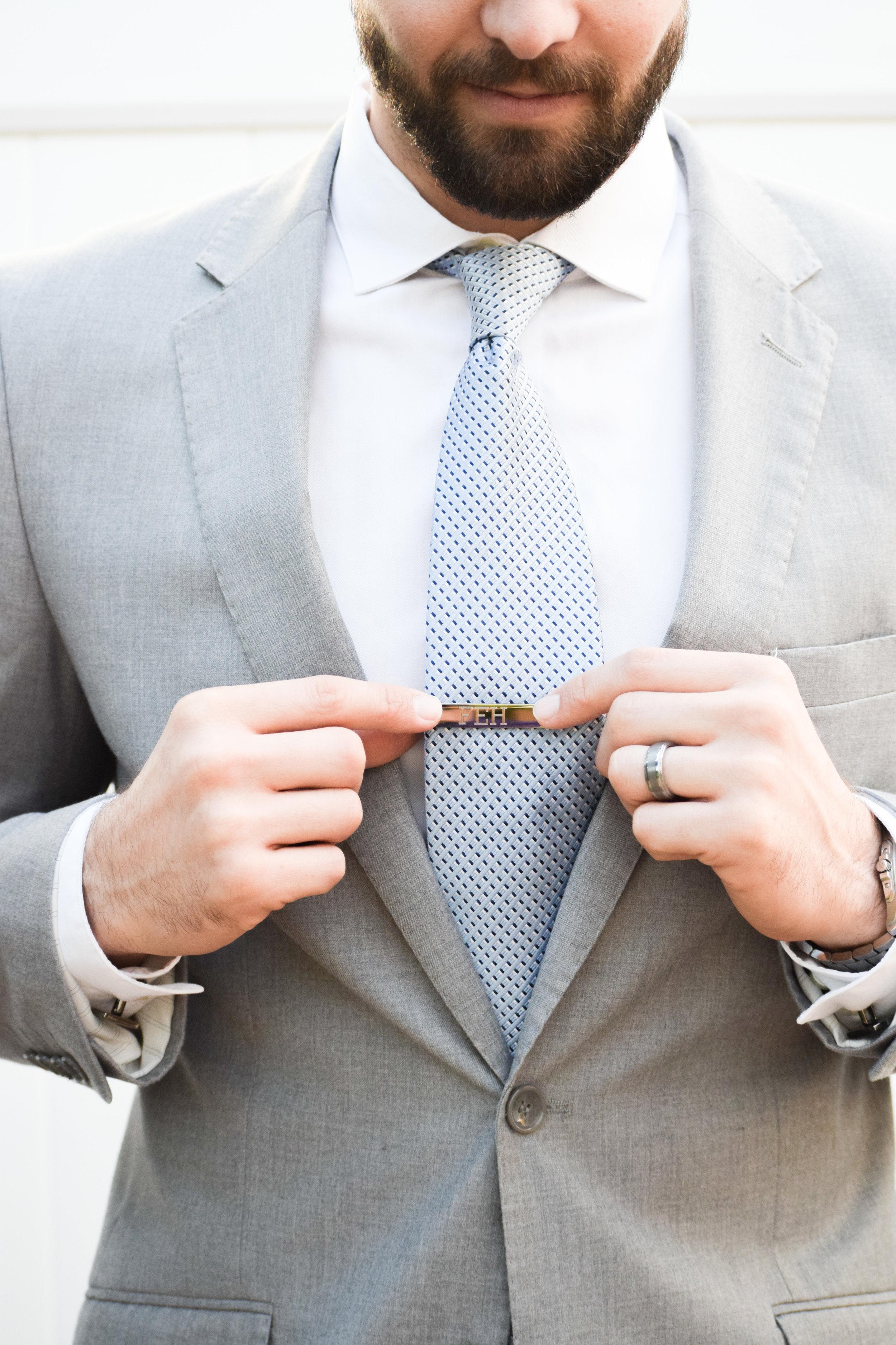 Groomsman Proposal Gift Ideas -- Engraved Groomsman Tie Clips - Things Remembered