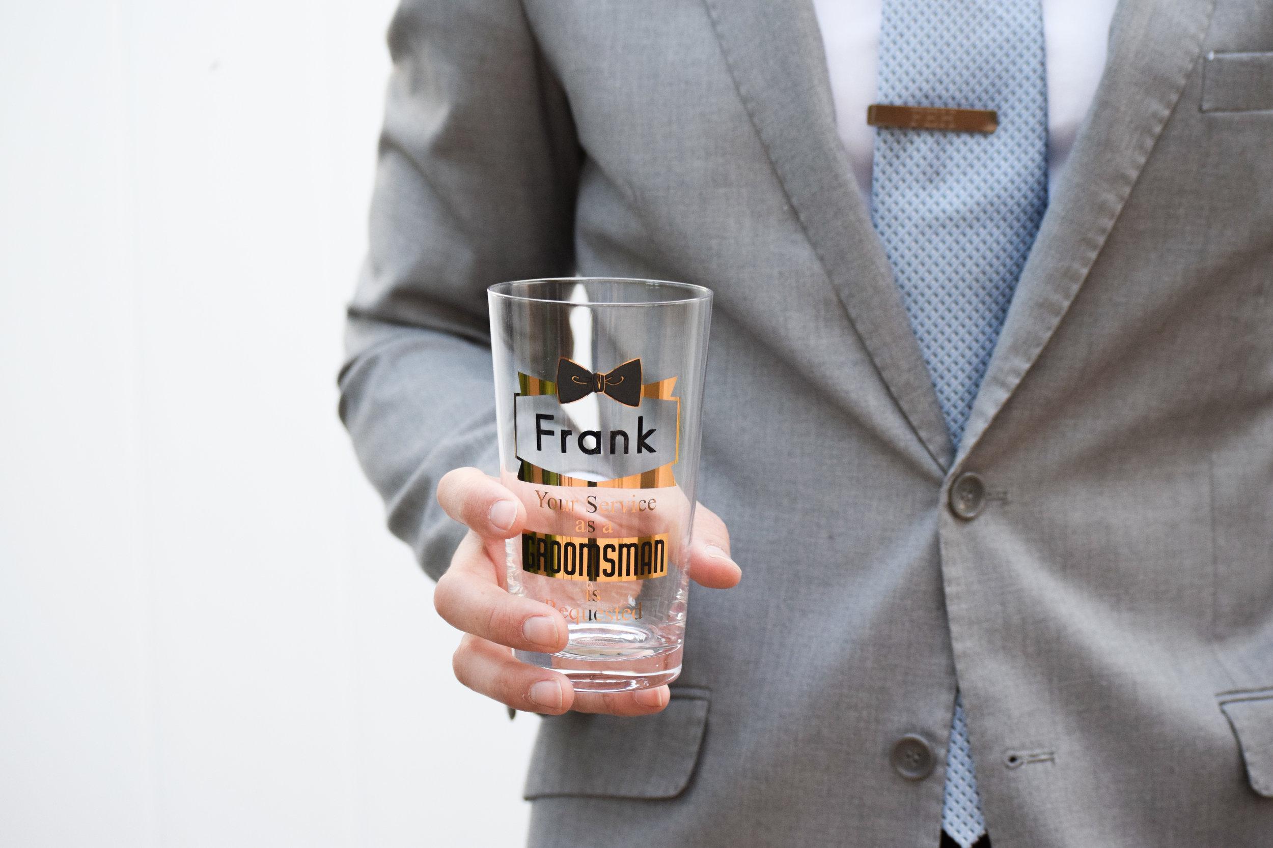 Groomsman Proposal Gift Ideas -- Groomsman Proposal Beer Glass - Things Remembered