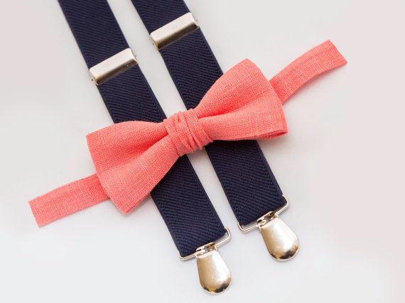 Coral Bow Tie - Unique Groom + Groomsman Bow Ties