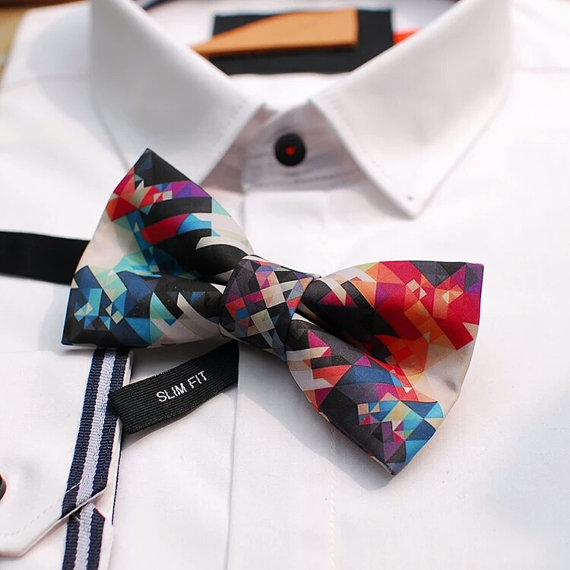 Geometric Colorful Bow Ties - http://www.awin1.com/cread.php?awinmid=6220&awinaffid=228501&clickref=TOB&p=https%3A%2F%2Fwww.etsy.com%2Flisting%2F276505686%2Fgroom-bow-tie-groomsmen-bow-ties-wedding%3Fga_order%3Dmost_relevant%26ga_search_type%3Dall%26ga_view_type%3Dgallery%26ga_search_query%3D%26ref%3Dsr_gallery_9Unique Groom + Groomsman Bow Ties