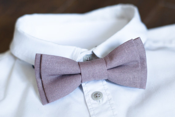 Purple Linen Bow Tie - Unique Groom + Groomsman Bow Ties