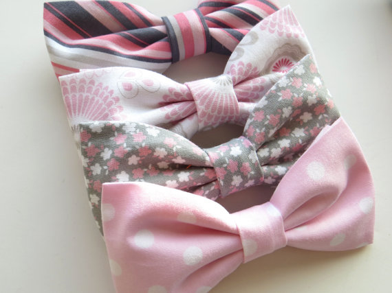 Pink Mix and Match Bow Ties - Unique Groom + Groomsman Bow Ties
