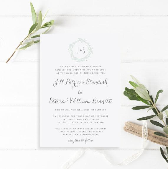 Simplistic Spring Wedding Invitations