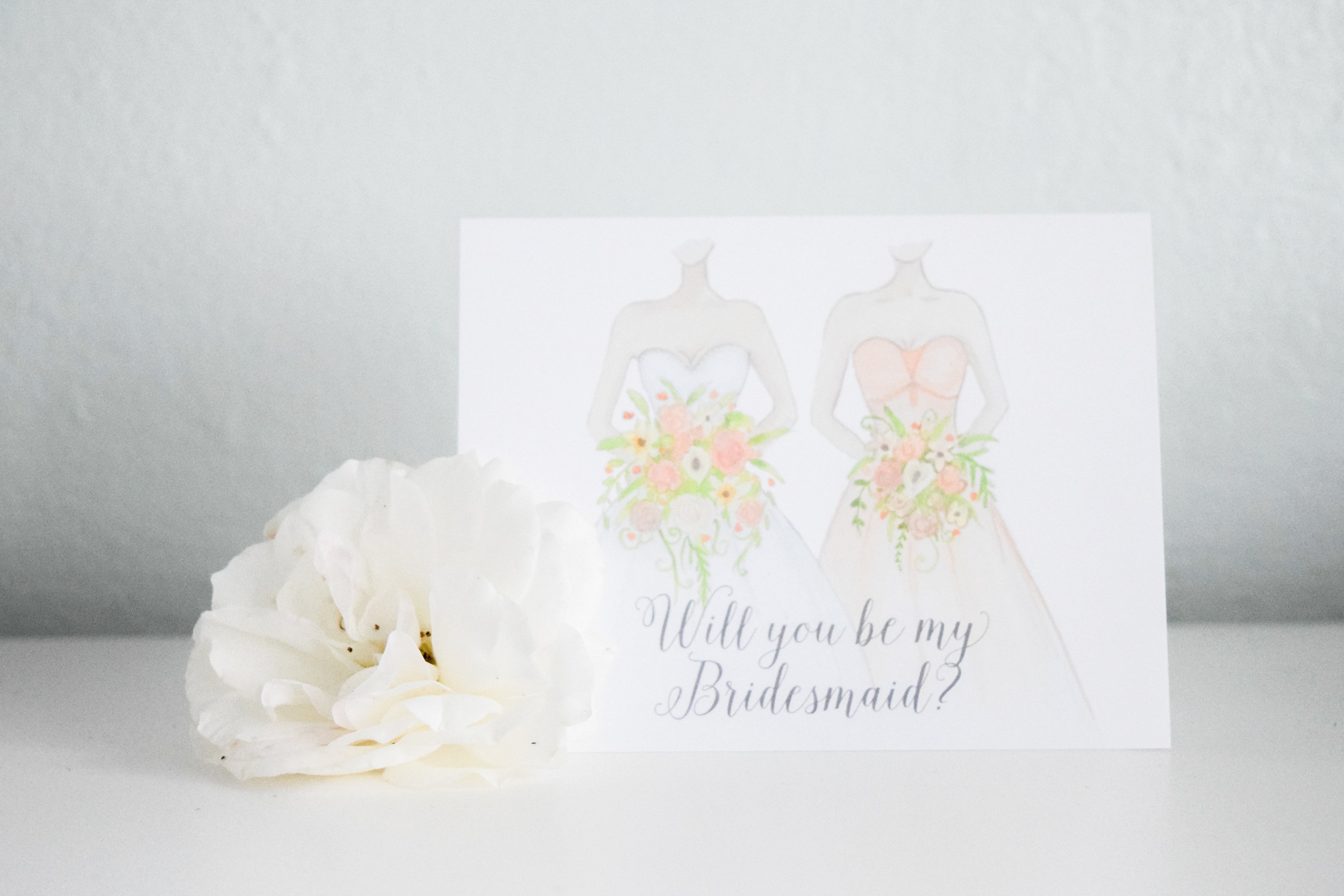 Bridesmaid Proposal Cards by Black Label Decor