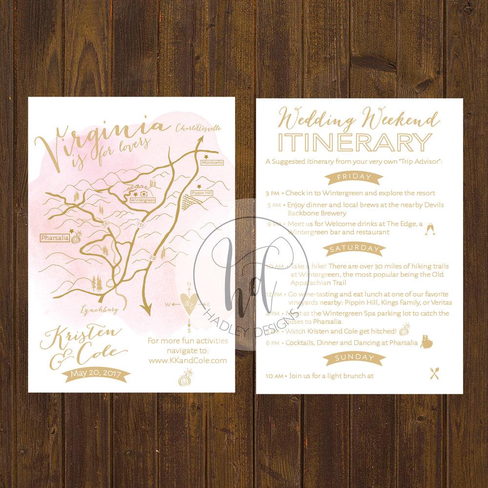 Wedding Invitation Custom Maps