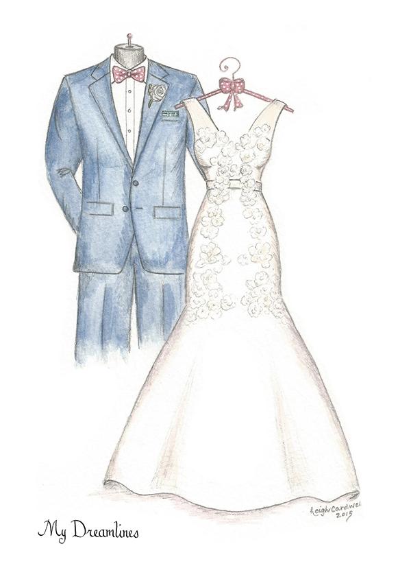 Custom Wedding Dress Sketches