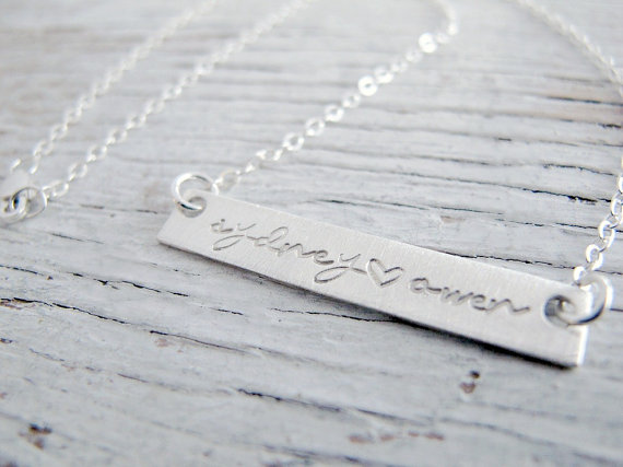 The Bridal Boutique | Custom Bridesmaid Gift Bar Necklace