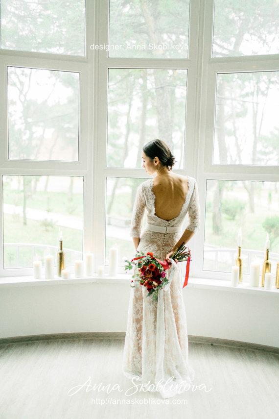 Chantilly Lace Low Back Wedding Dress