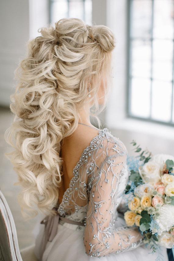 Beaded Low Back Wedding Dress