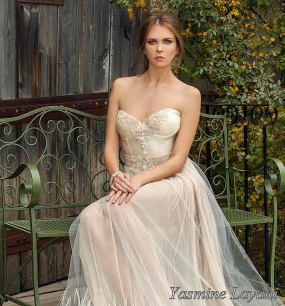 Ivory Boho Chic Low Back Wedding Dress