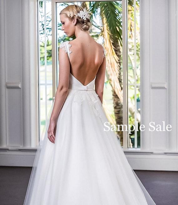 A Line Low Back Wedding Dress