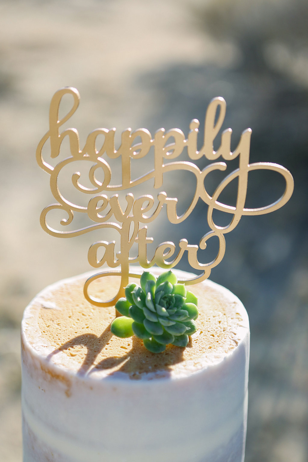 Simple Laser Cut Wedding Cake Toppers - Tiffany J Photography