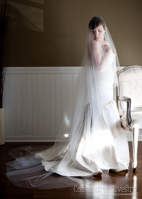 Cathedral Length Long Bridal Veil