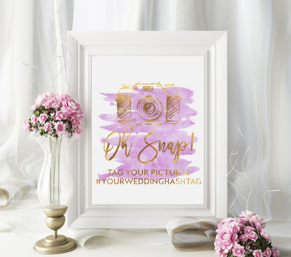 Unique Summer Wedding Signs 6 - hashtag wedding sign