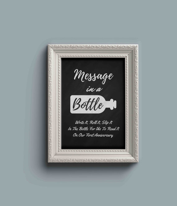 Unique Summer Wedding Signs 10 - chalkboard wedding in a bottle sign