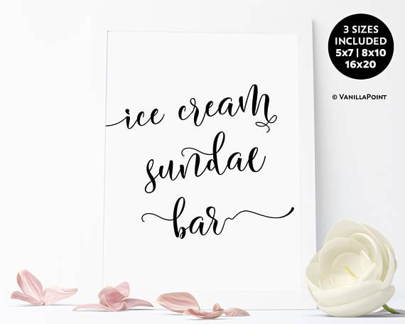 Unique Summer Wedding Signs 12 - ice cream sundae bar sign