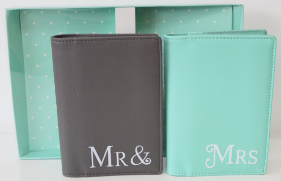 Honeymoon Essentials - Mr and Mrs Honeymoon Passport Cases