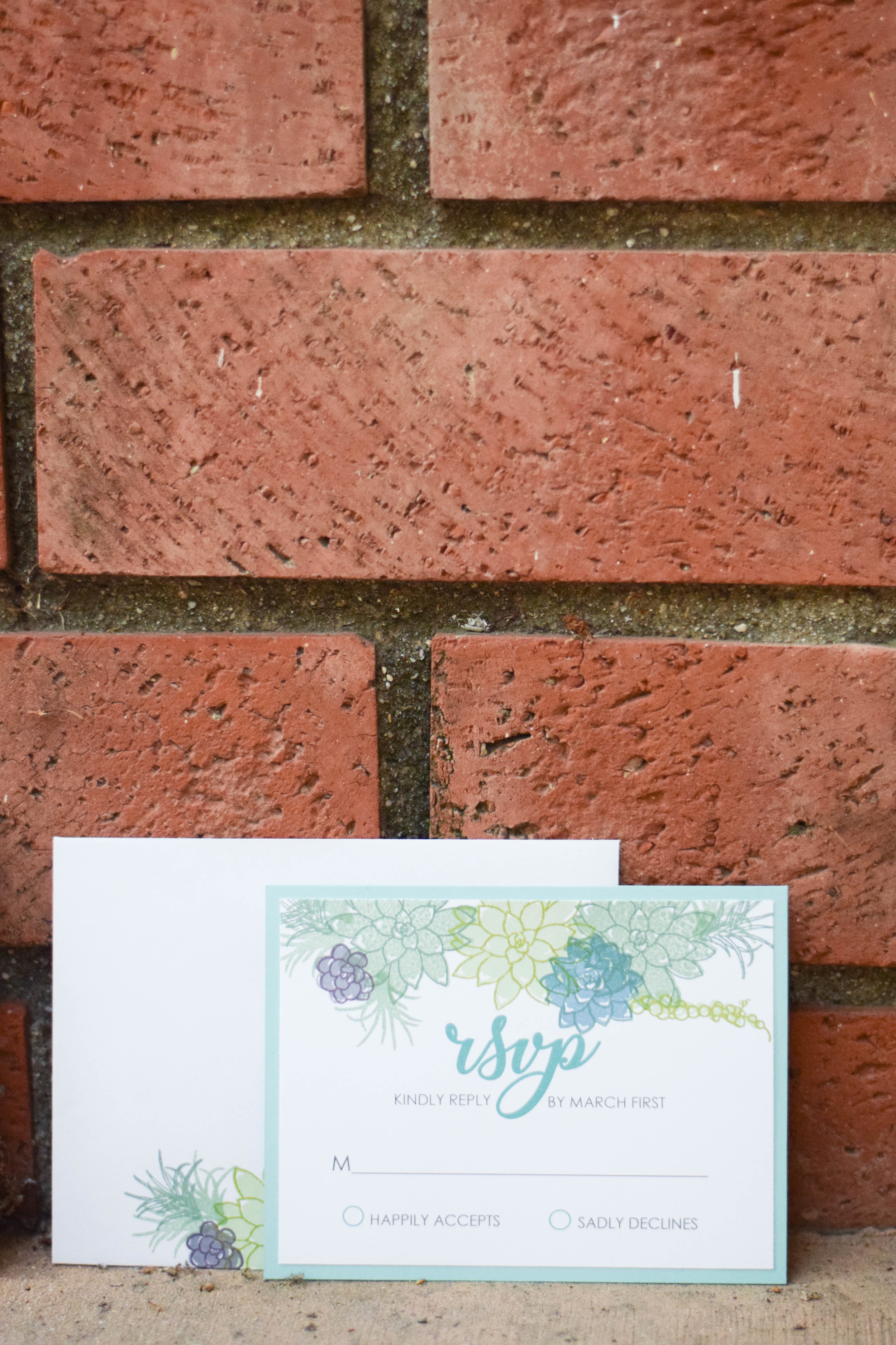 The Bridal Boutique | Succulent Wedding Invitation Suite - Succulent Save the Date - CraftsbyGillian