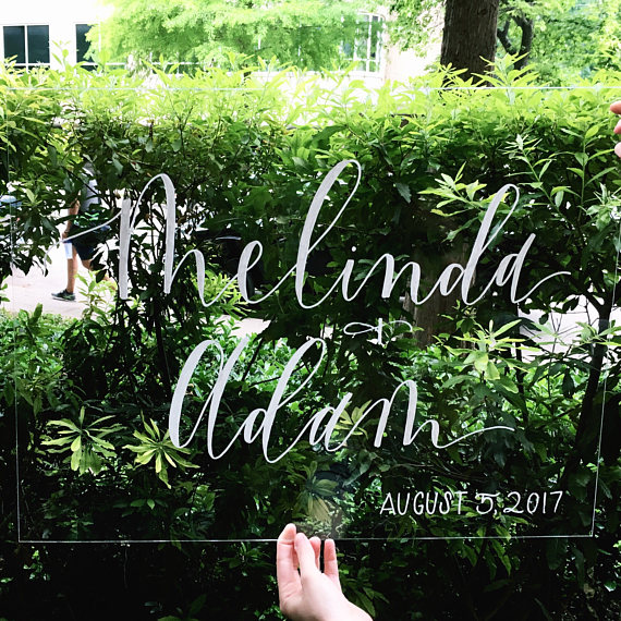 Acrylic Wedding Welcome Sign