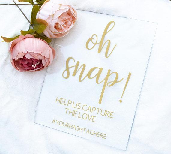 Acrylic Wedding Hashtag Sign