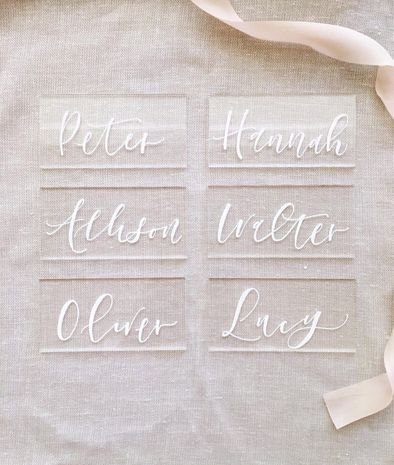 Wedding Escort Seating Cards