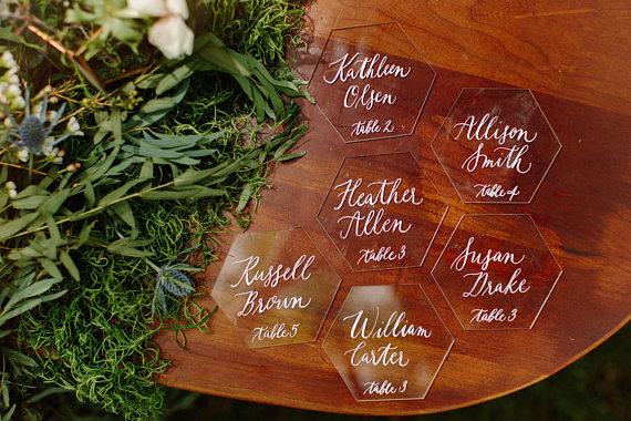 Acrylic Wedding Seating-Escort Cards