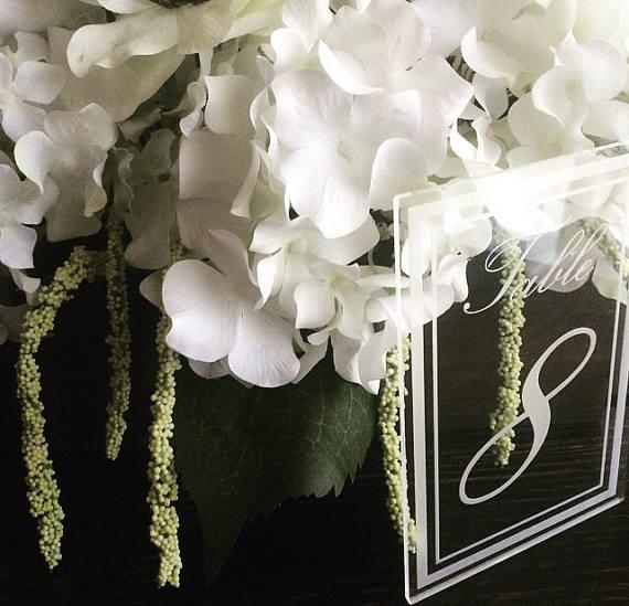 Acrylic Wedding Table Number