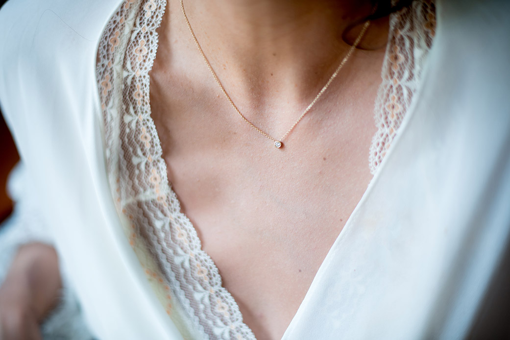 Bridal Necklace - Catskills Mountain Bohemian Wedding - Custom by Nicole Photography