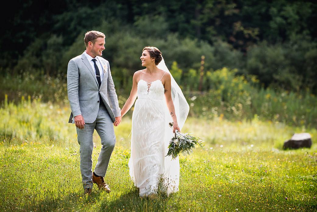 First Look Photos - Catskills Hunter Mountain Bohemian Wedding - Custom by Nicole Photography