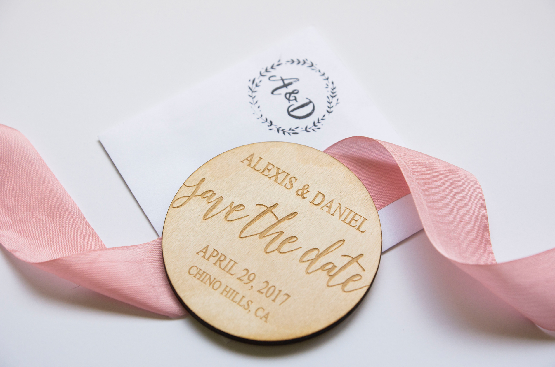 Wooden Save the Date - A McCoy Equestrian Center Wedding - Peterson Design & Photography