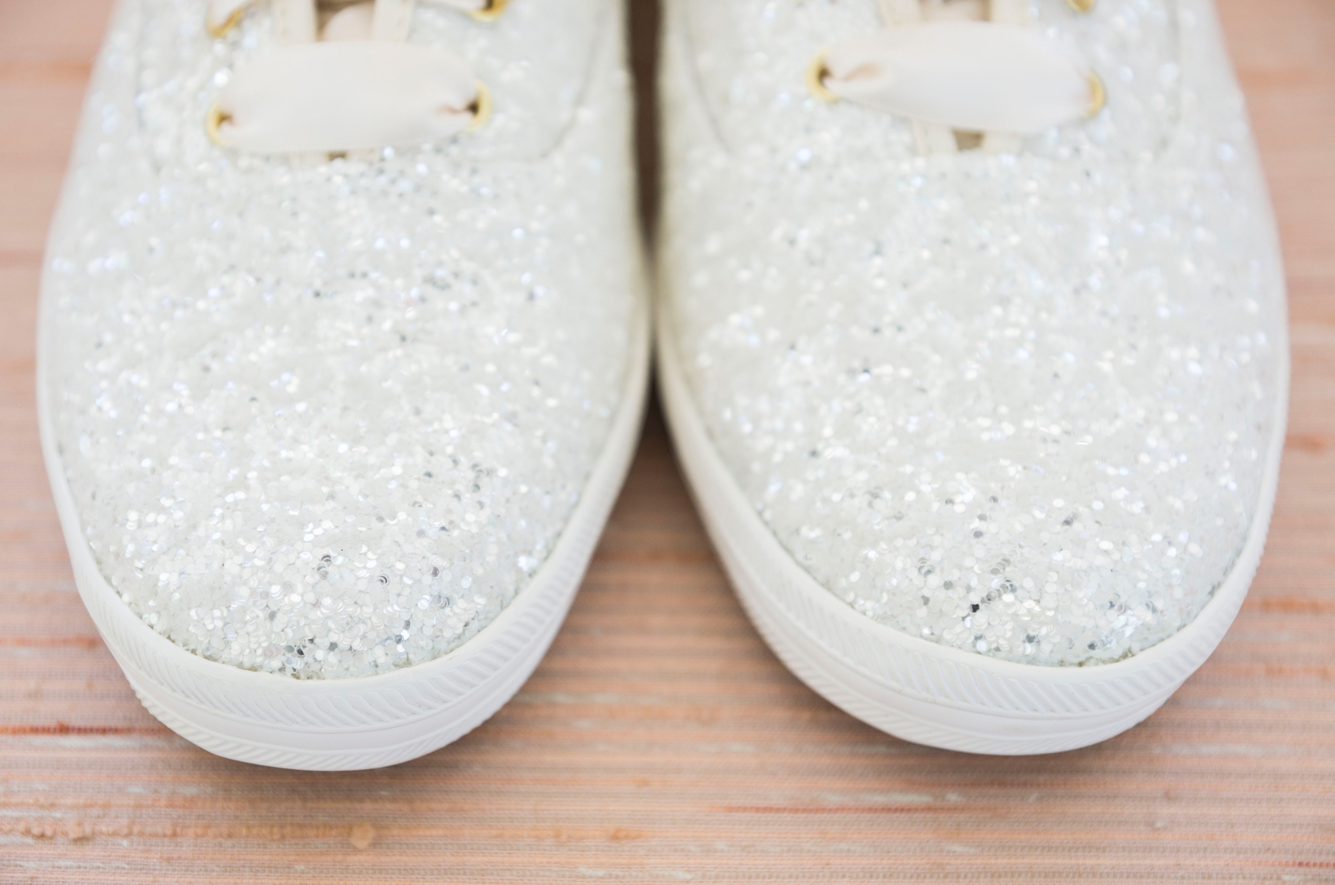 Sparkly Bride Sneakers - A McCoy Equestrian Center Wedding - Peterson Design & Photography