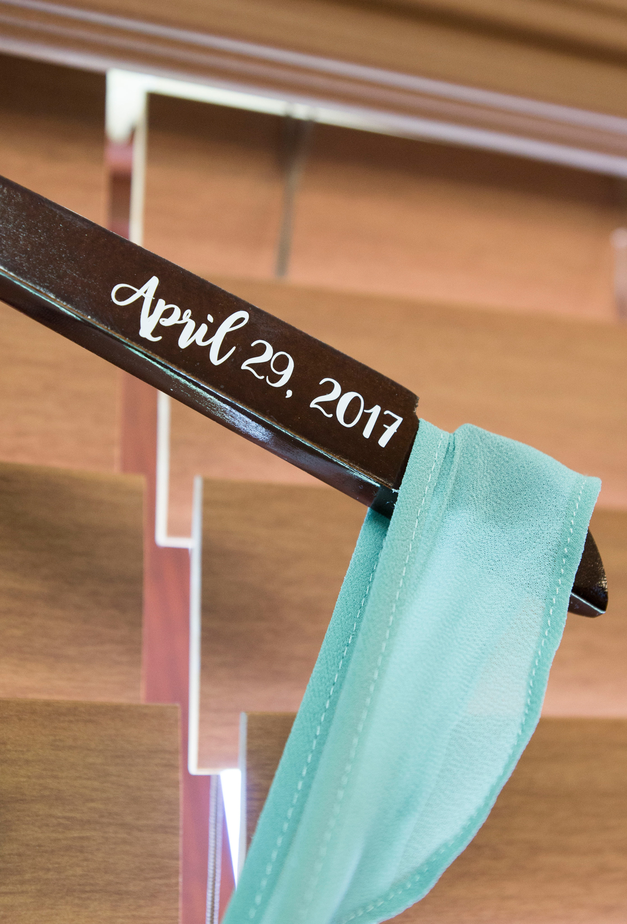 Personalized Bridesmaid Hangers - A McCoy Equestrian Center Wedding - Peterson Design & Photography