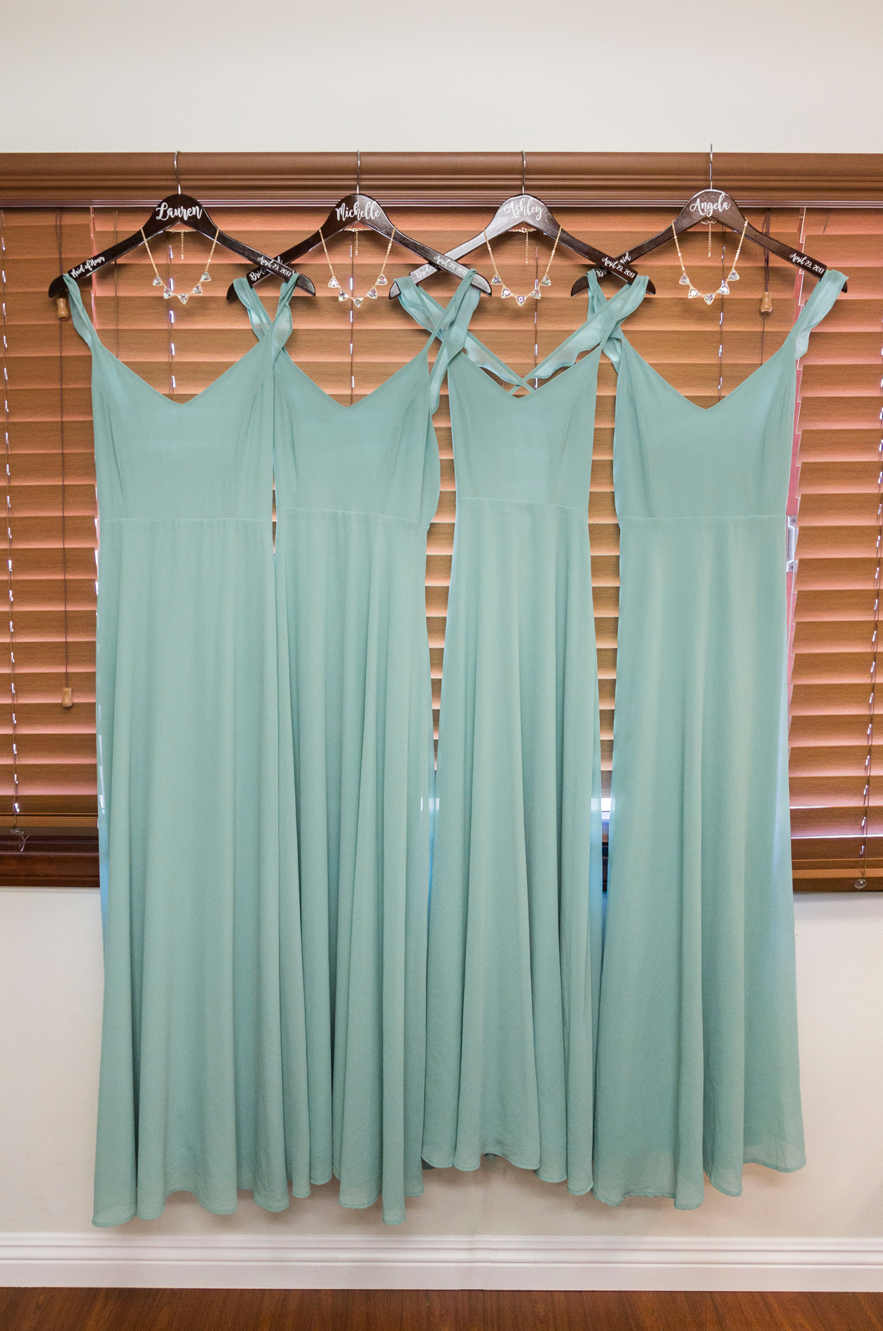 Turquoise Bridesmaid Dresses - A McCoy Equestrian Center Wedding - Peterson Design & Photography