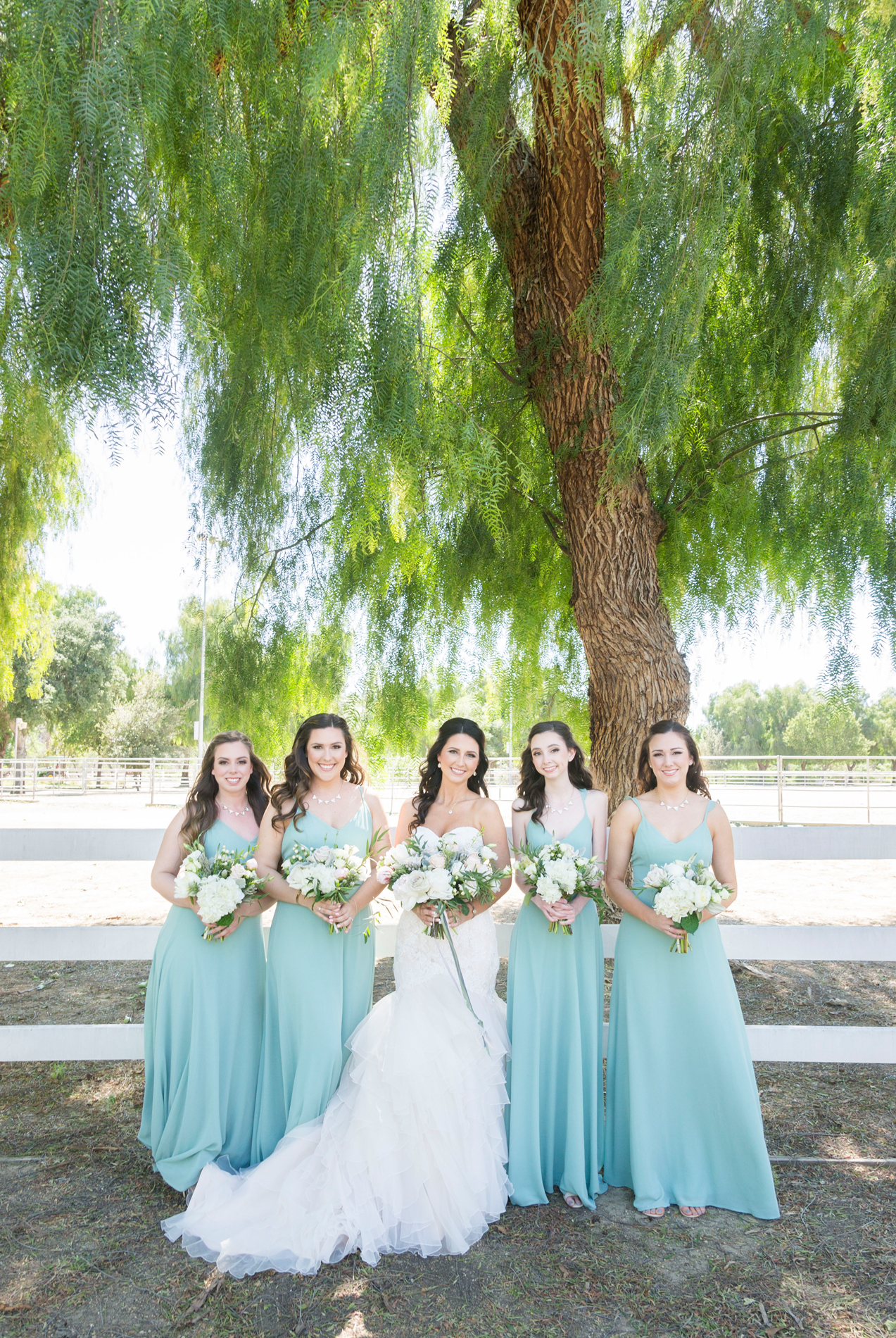 Mint Bridesmaid Dresses - A McCoy Equestrian Center Wedding - Peterson Design & Photography