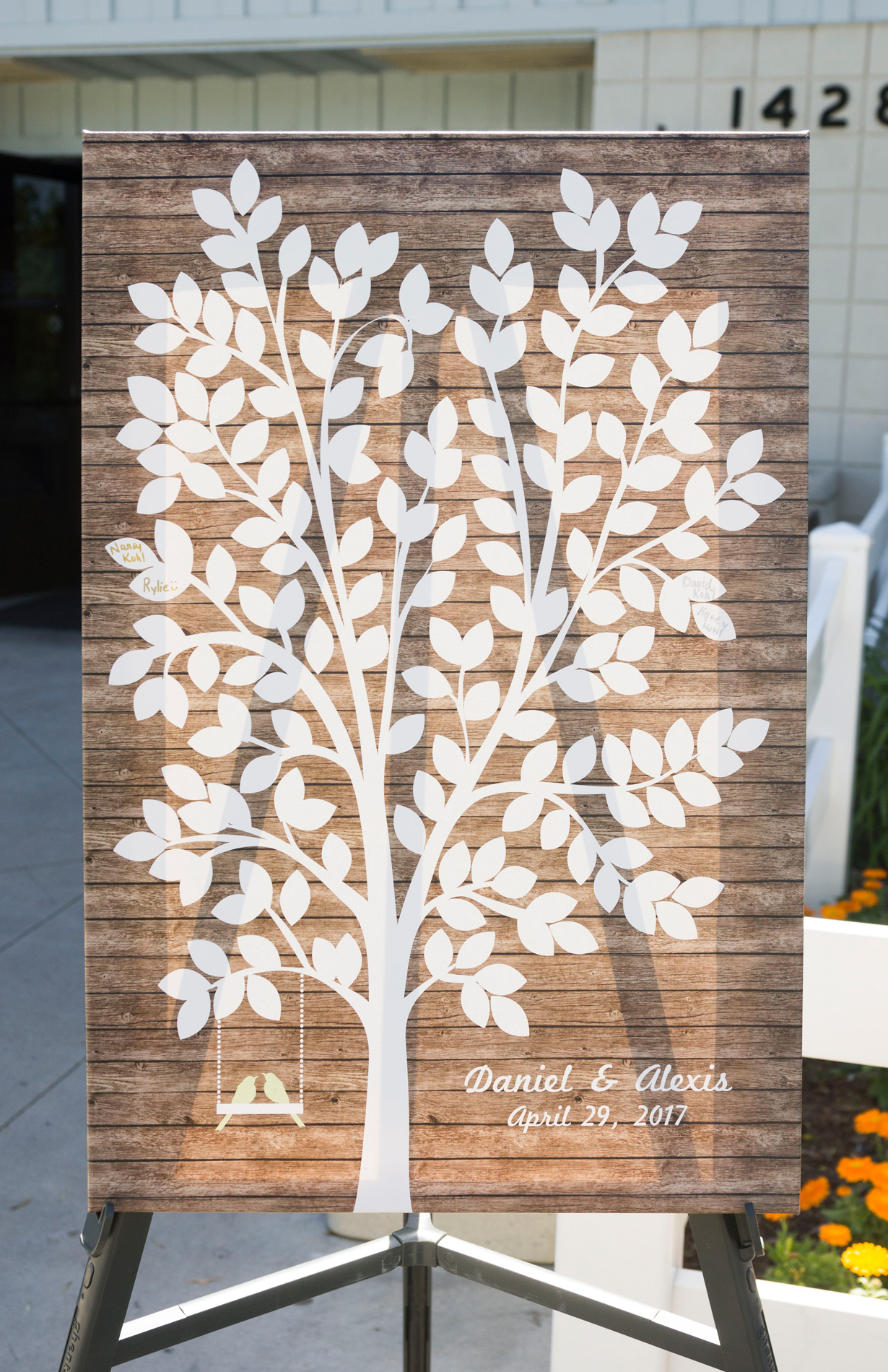 Wooden Guest Book Alternative - McCoy Equestrian Center Wedding - Peterson Design & Photography
