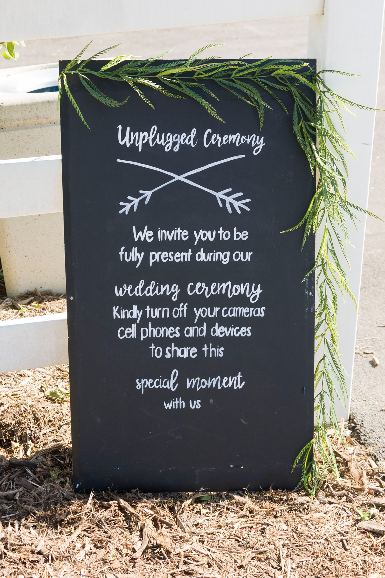 Unplugged Wedding Ceremony Sign - A McCoy Equestrian Center Wedding - Peterson Design & Photography