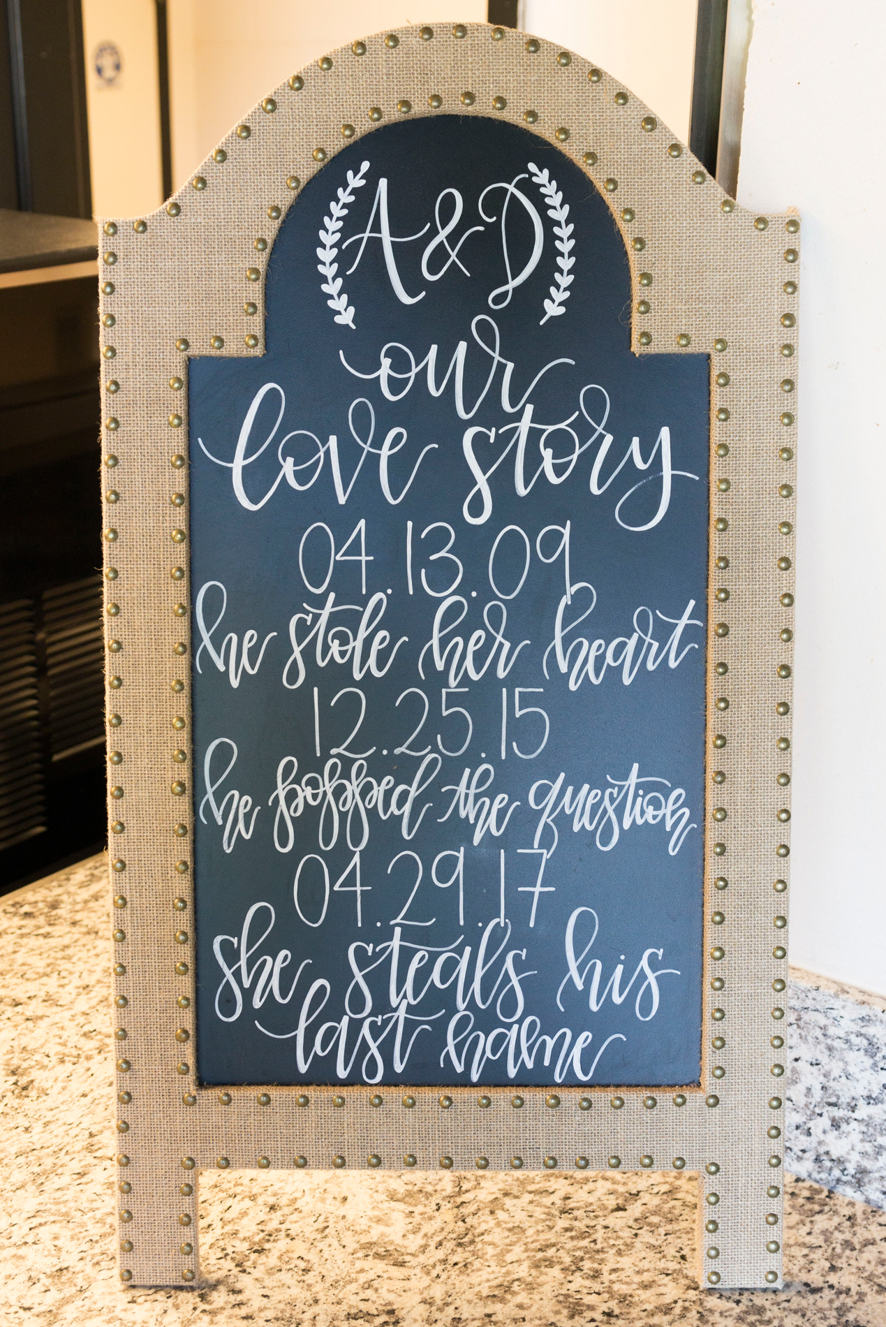 Chalkboard Wedding Sign - A Rustic-Vintage Glam McCoy Equestrian Center Wedding - Peterson Design & Photography