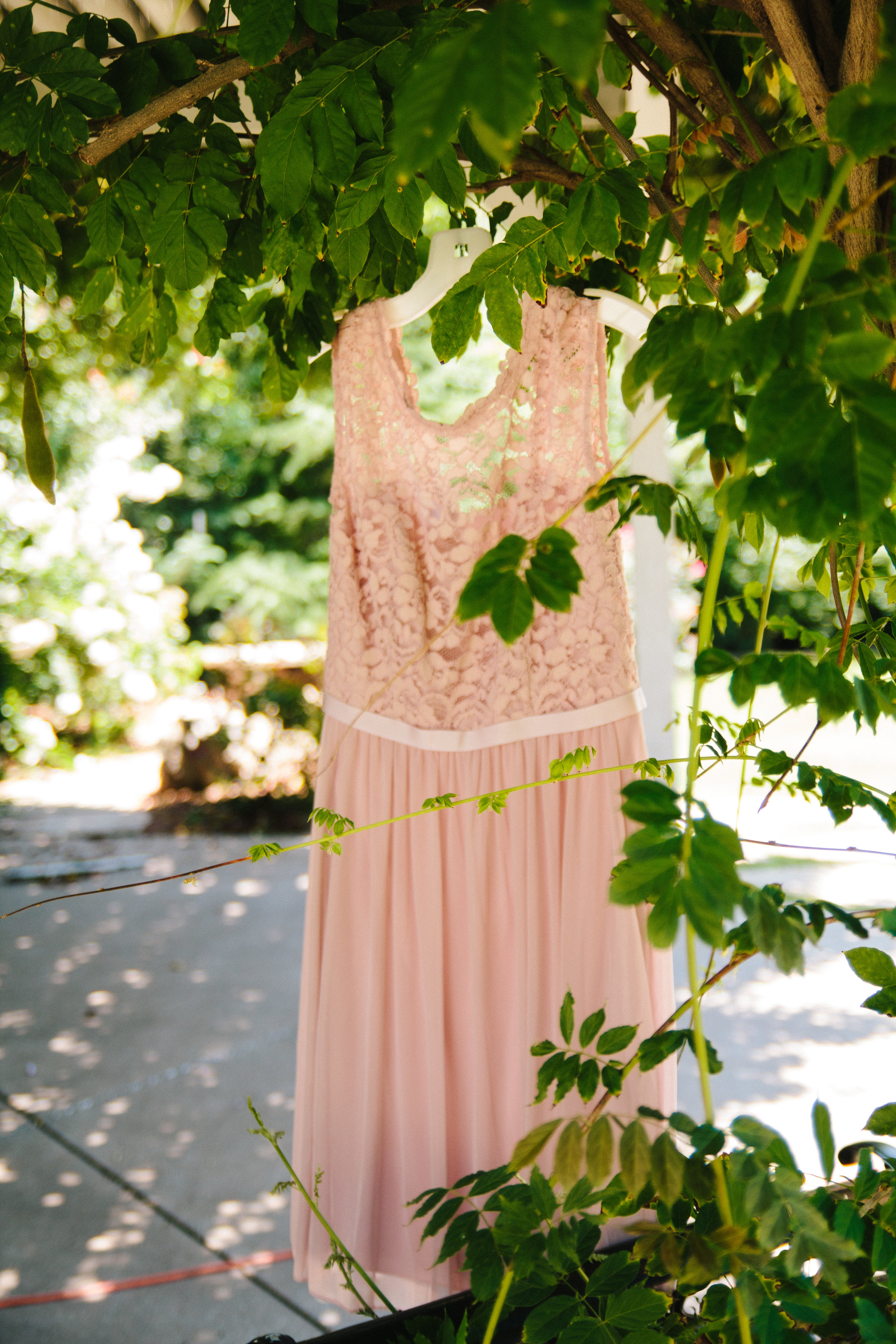 Blush Bridesmaid Dress - A Champagne + Blush Oklahoma Wedding - Meditations Event Center - From Britt's Eye View Photography