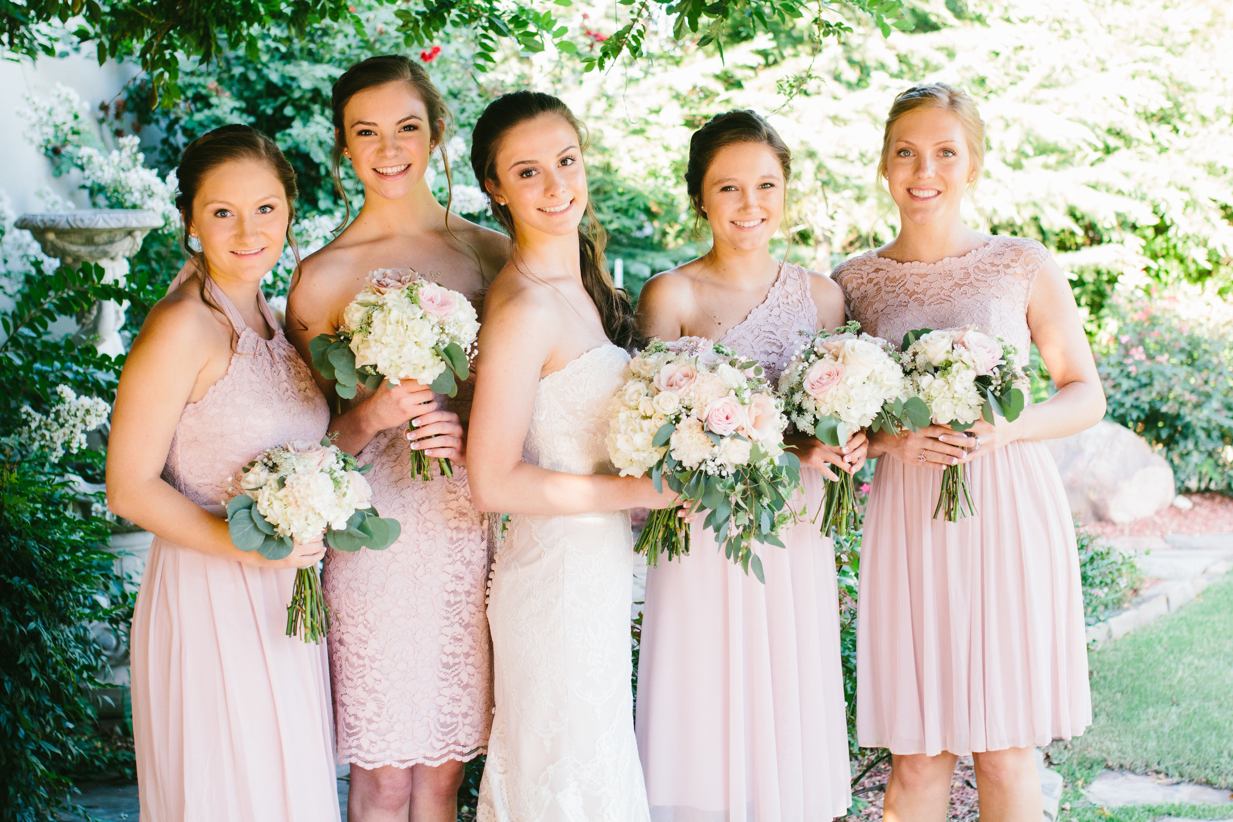 Blush Bridesmaid Dresses - A Champagne + Blush Oklahoma Wedding - Meditations Event Center - From Britt's Eye View Photography
