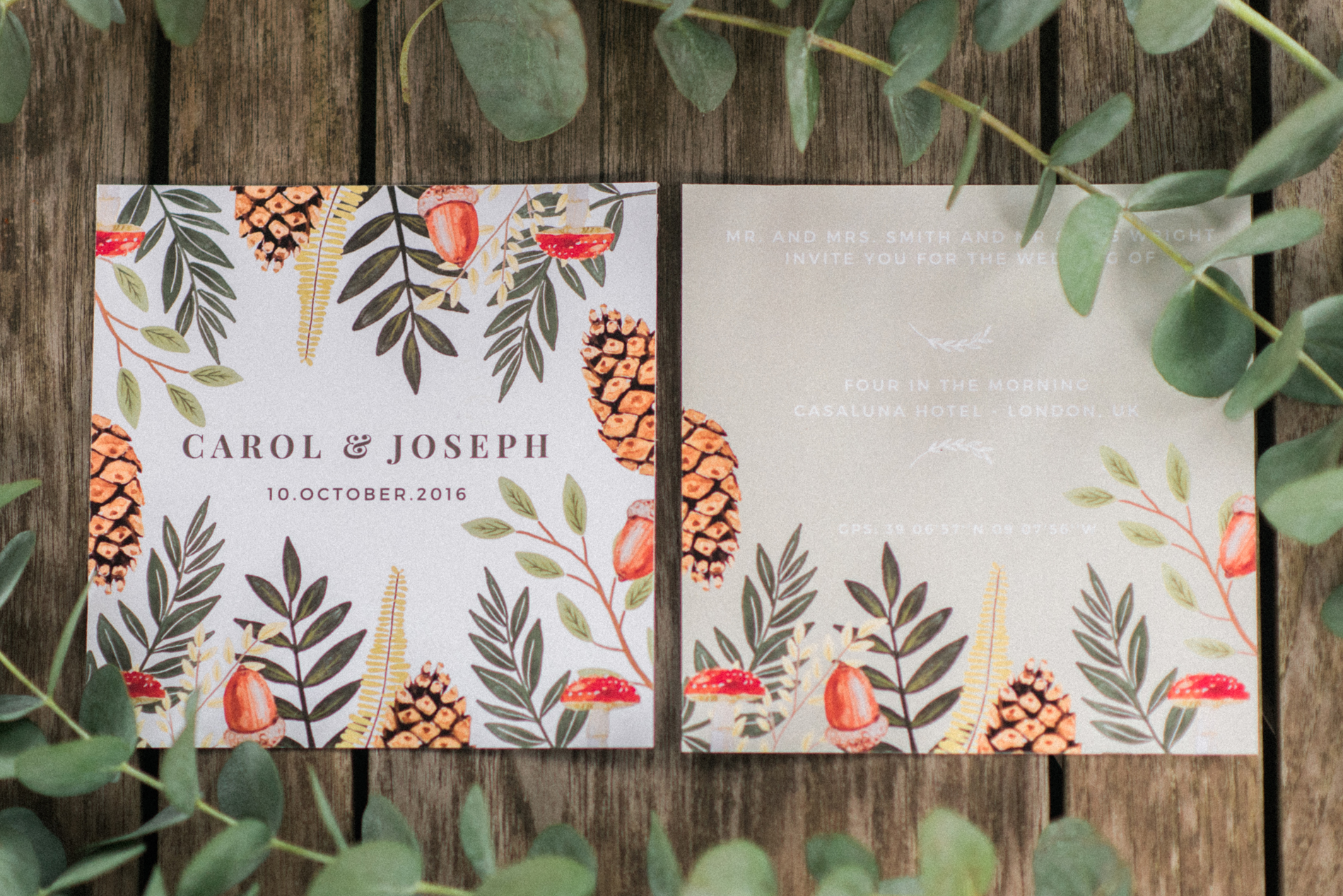 Fall Wedding Invitations - A Styled London Elopement - Adriana Morais Fotografia