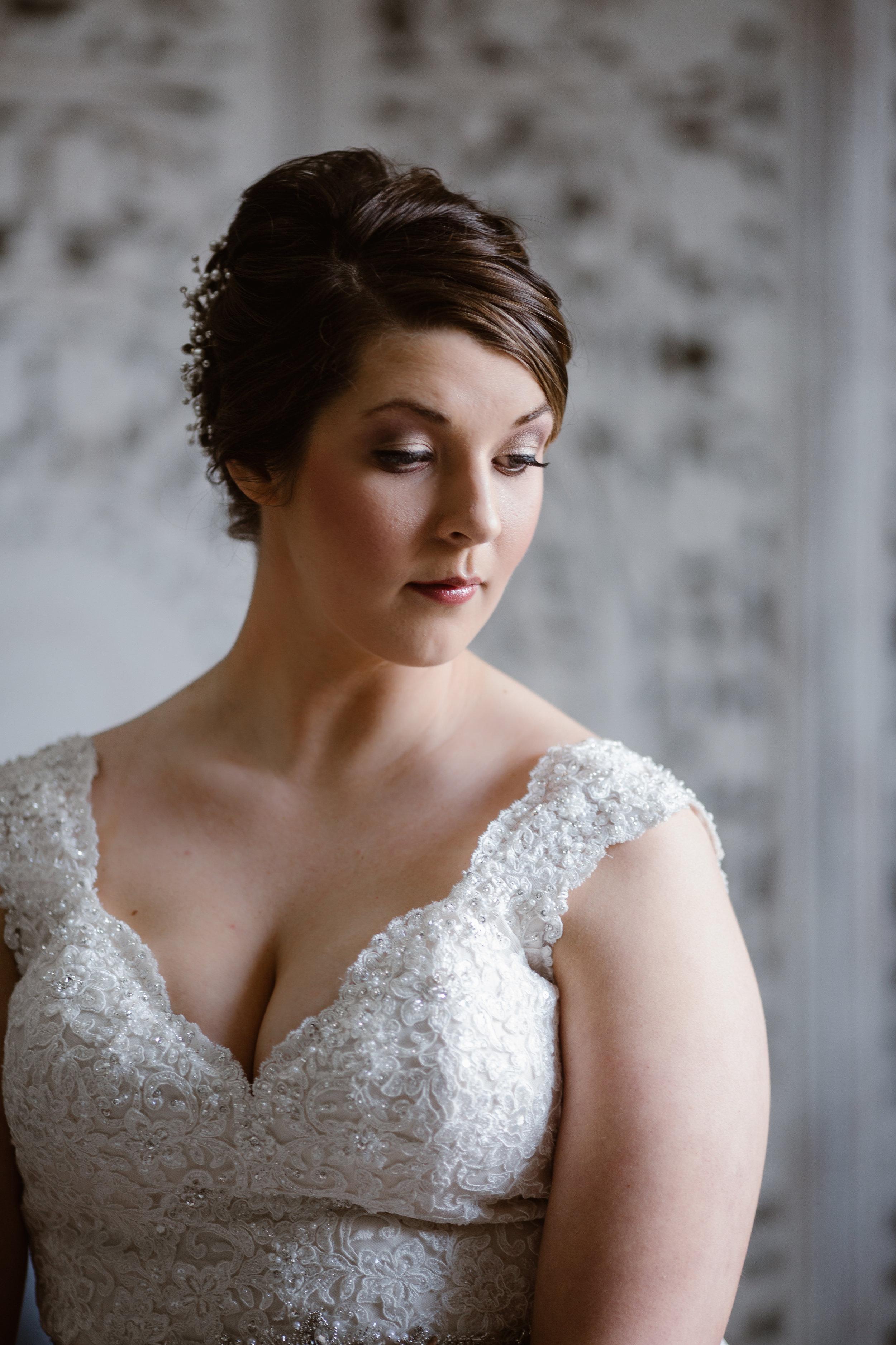 Bridal Makeup - A Burgundy + Bronze Ramble Creek Fall Wedding - Erin Morrison Photography