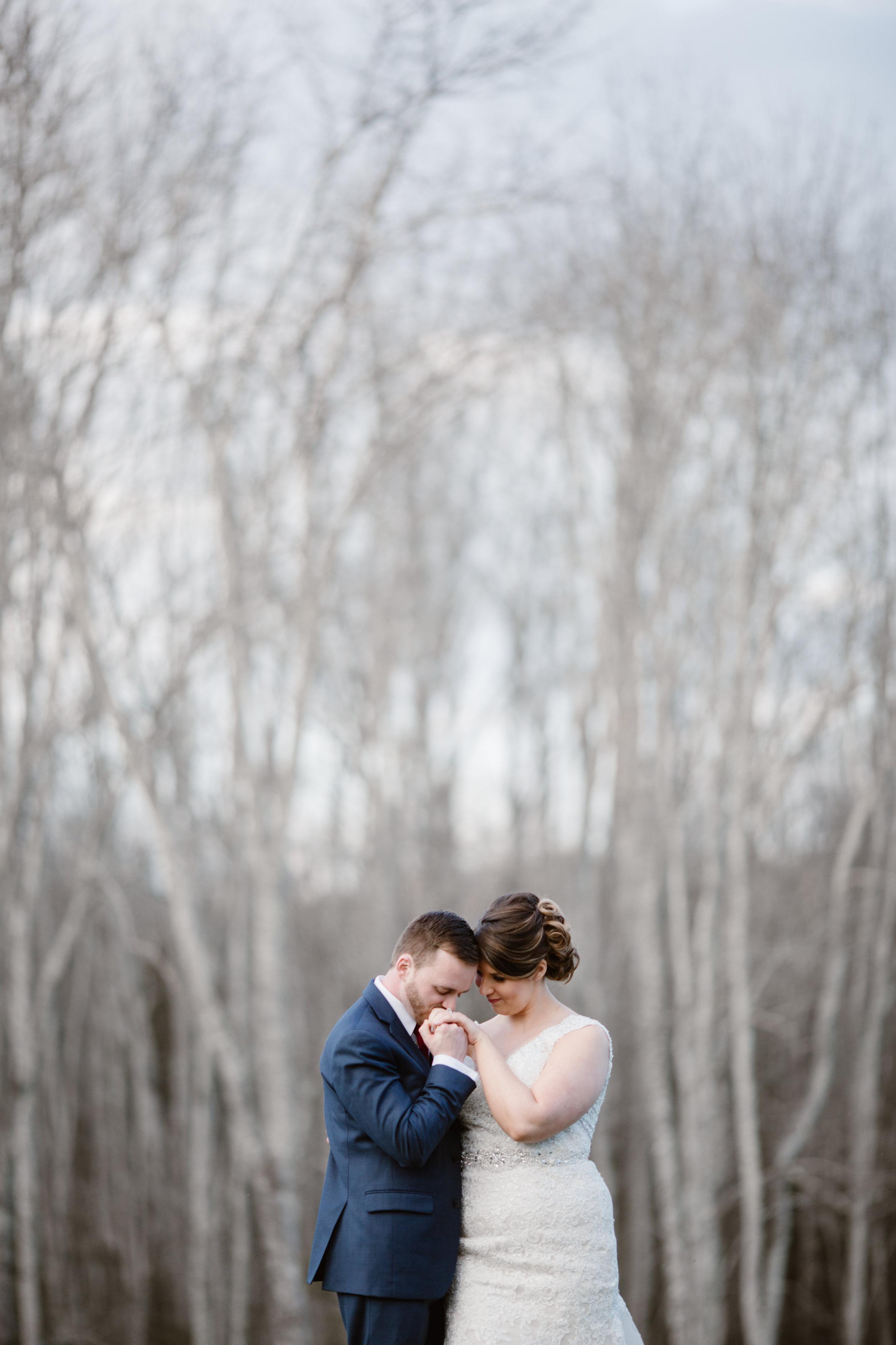 A Burgundy + Bronze Ramble Creek Fall Wedding - Erin Morrison Photography