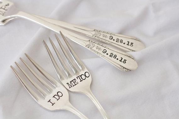Engraved Wedding Forks - Unique Wedding Ideas