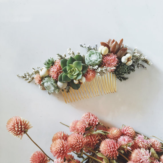 Fall Bridal Hair Accessories-Flower Crowns