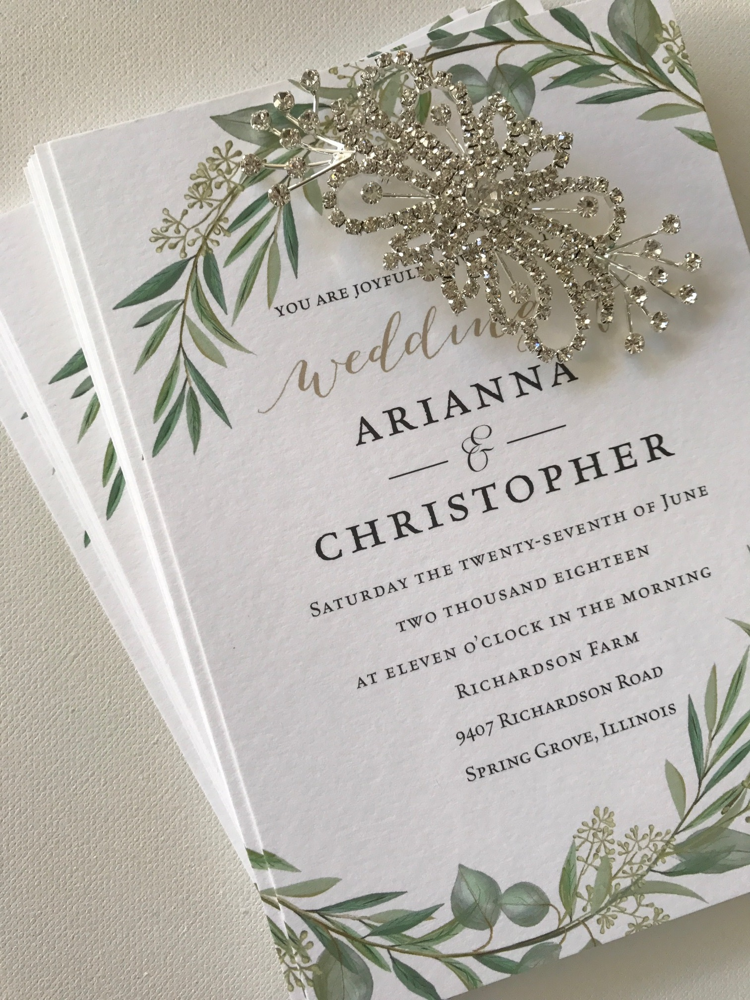 The Bridal Boutique | Fall Wedding Invitations-The Stationery Bar -- Wedding Blog-The Overwhelmed Bride