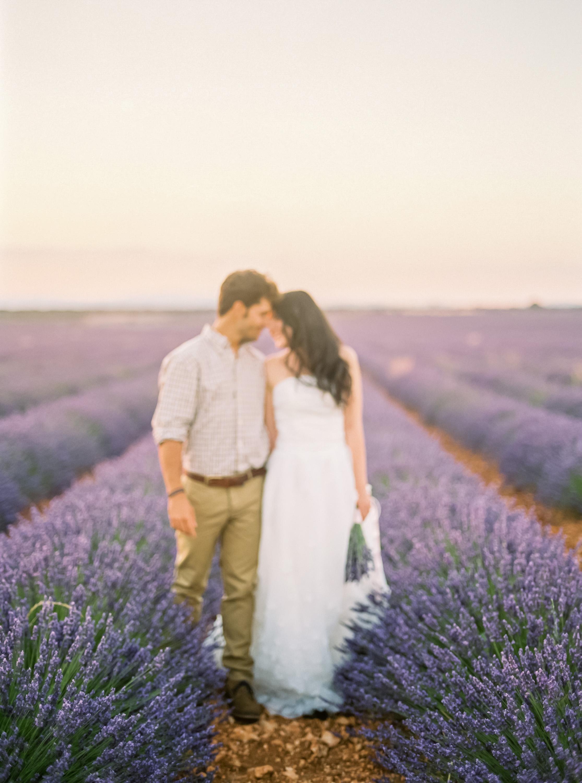 Lavender Field Engagement Photos - Guadalajara Spain Lavender Field - Alla Yachkulo Photography