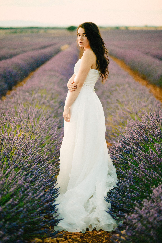 Lavender Field Engagement Photos - Guadalajara Spain Lavender Field - Alla Yachkulo Photography -- Wedding Blog-The Overwhelmed Bride