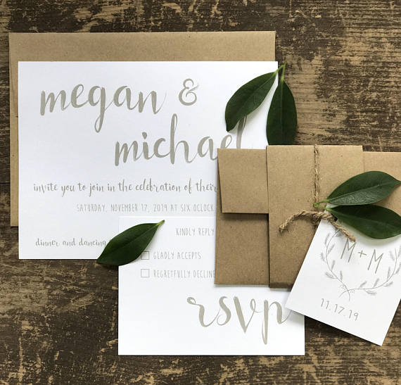 Simple Wedding Invitations for Any Season